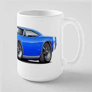 1969 Super Bee Blue Car Large Mug
