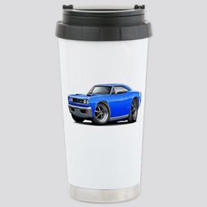 1969 Super Bee Blue Car Stainless Steel Travel Mug
