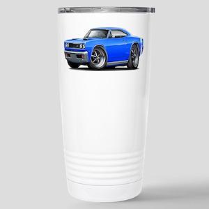 1969 Super Bee Blue Car Stainless Steel Travel Mug