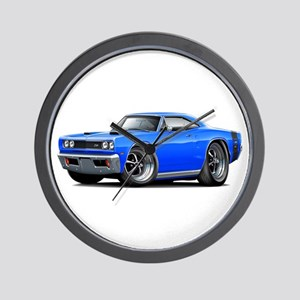 1969 Super Bee Blue-Black Car Wall Clock