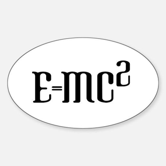 E=MC2 Oval Decal