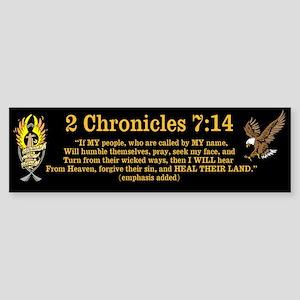 2 Chr 7:14 w/eagle Sticker (Bumper)