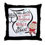 Vegan Christmas Wish Throw Pillow