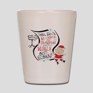 Vegan Christmas Wish Shot Glass