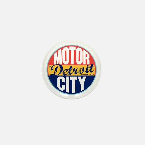 Detroit Vintage Label Mini Button