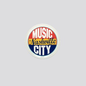 Nashville Vintage Label Mini Button