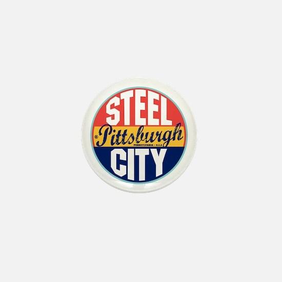 Pittsburgh Vintage Label Mini Button