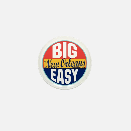 New Orleans Vintage Label Mini Button
