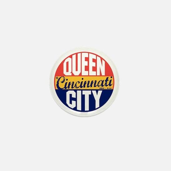 Cincinnati Vintage Label Mini Button