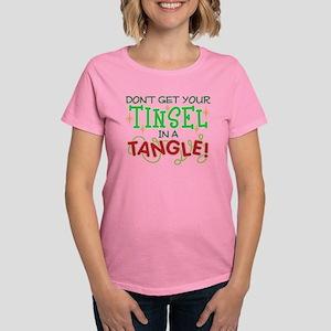 TINSEL IN A TANGLE Women's Dark T-Shirt