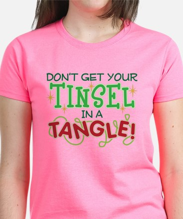 TINSEL IN A TANGLE Women's Dark T-Shirt