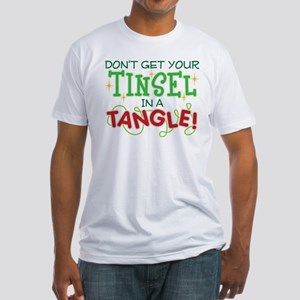 TINSEL IN A TANGLE Fitted T-Shirt
