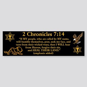 2 Chr 7:14 Lion - Sticker (Bumper)