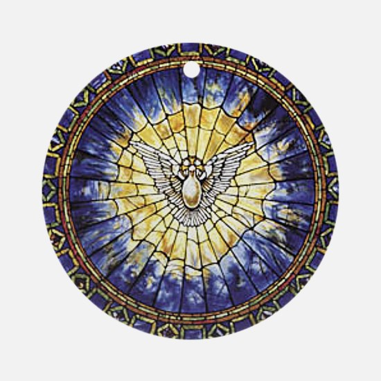 Holy Spirit Window Ornament (Round)