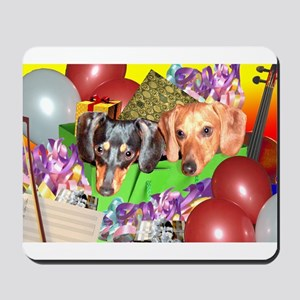 Party Animals Dachshunds Dogs Mousepad