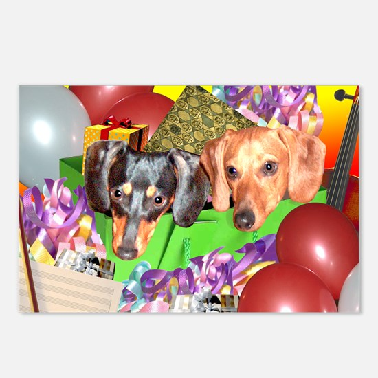 Party Animals Dachshunds Dogs Postcards (Package o