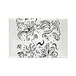 Decorative Tribal Design Rectangle Magnet (10 pack