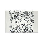 Decorative Tribal Design Rectangle Magnet