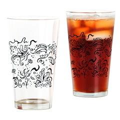 Decorative Tribal Design Drinking Glass