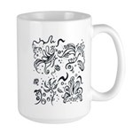 Decorative Tribal Design Large Mug