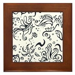 Decorative Tribal Design Framed Tile