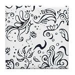 Decorative Tribal Design Tile Coaster