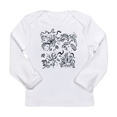 Decorative Tribal Design Long Sleeve Infant T-Shir