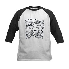Decorative Tribal Design Kids Baseball Jersey