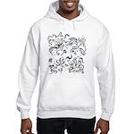 Decorative Tribal Design Hooded Sweatshirt