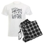 Decorative Tribal Design Men's Light Pajamas