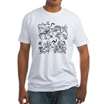 Decorative Tribal Design Fitted T-Shirt