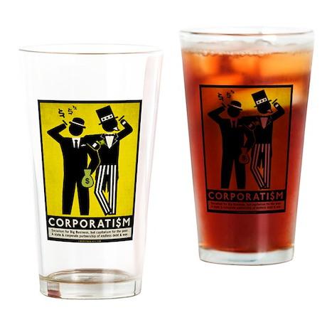 Corporatism Drinking Glass