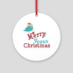 Vegan Christmas Ornament (Round)