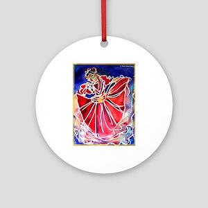 Fiesta Dancer, bright, art, Ornament (Round)