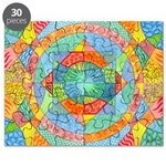 Sacred Geometry Watercolor Puzzle