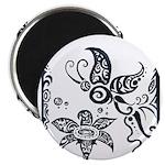 Tribal Butterfly Design Magnet