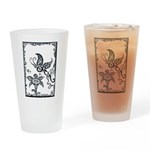 Tribal Butterfly Design Drinking Glass