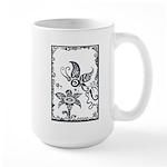 Tribal Butterfly Design Large Mug