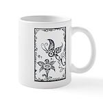 Tribal Butterfly Design Mug
