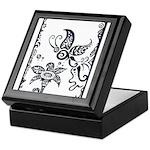 Tribal Butterfly Design Keepsake Box