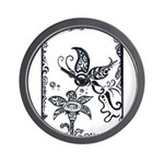 Tribal Butterfly Design Wall Clock