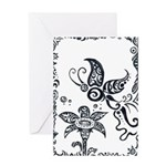 Tribal Butterfly Design Greeting Card