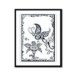 Tribal Butterfly Design Framed Panel Print
