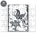 Tribal Butterfly Design Puzzle