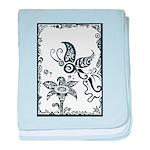 Tribal Butterfly Design baby blanket