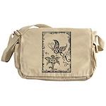 Tribal Butterfly Design Messenger Bag