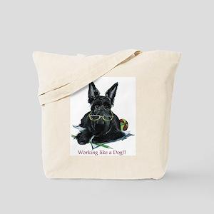 Working Scottie Tote Bag