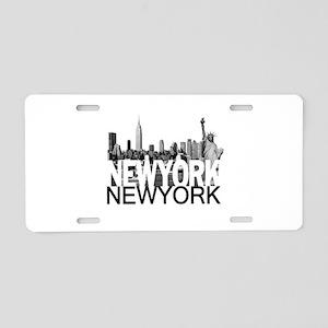 New York Skyline Aluminum License Plate