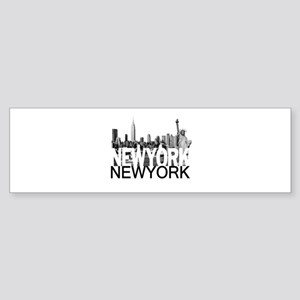 New York Skyline Sticker (Bumper)