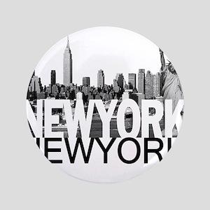 """New York Skyline 3.5"""" Button"""